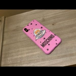 PINK MOSCHINO IPHONE X/XS MAX PHONE CASE